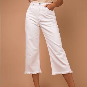 MINKPINK White Cutoff Jeans
